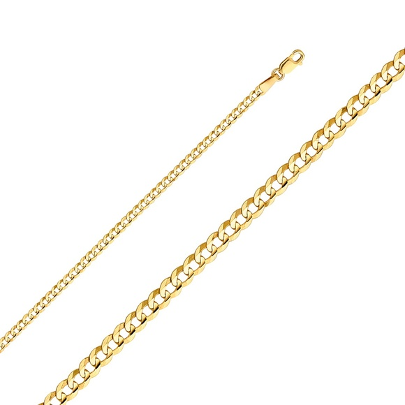 """TGDJ Other - 14k Yellow 2.7 mm Cuban Concave Chain - 20"""""""